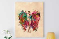 Canvas Art For Sale, Canvas Art Prints, Cotton Fabric, My Arts, Angel, Abstract, Gallery, Artist, Painting