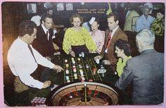 Reno Nevada Vintage Postcard Roulette Casino Lady Luck