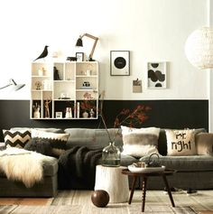 Interior Design ideas – Painting walls in two colors :http://aa-design-interior.ro/en/interior-design-ideas-painting-walls-in-two-colors/