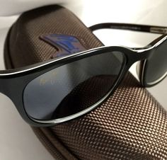 a0b9fcee1a Maui Jim Sunrise Sunglasses Black with Neutral Grey Polarized Lenses! Rare!
