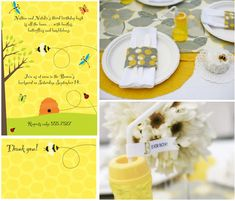 baby bee bee theme party bee bridal shower birthday party   http://www.frostedevents.com