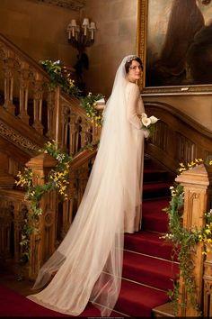 Lady Mary Crawley on her wedding day.