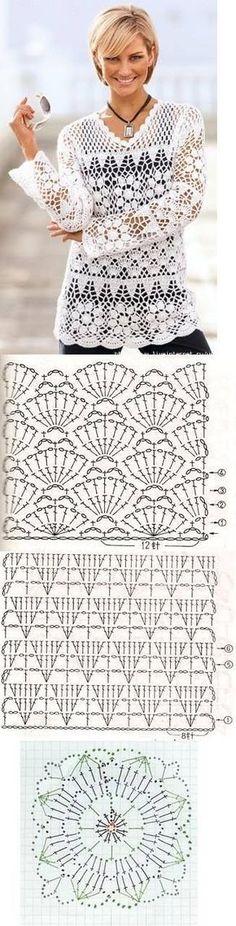 Materiales gráficos Gaby: Blusas gran variedad de modelos a crochet