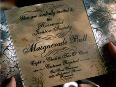 Like the Invite style -- The Masquerade Ball Invite courtesy of Pretty Little Liars