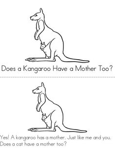 Kangaroo Coloring Page See More Does A Have Mother Too