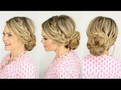 Just did this and it turned out awesome! French Lace Braid Updo | Prom Hairstyle + Collab w/ Mallory1712 - YouTube
