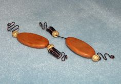 2 Wood Brown Looped Wood Loc Jewels Simply by NaturalJaurney, $7.00