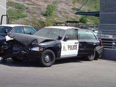 Wrecked Chula Vista Police Car