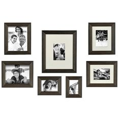 Driftwood Gallery Collage Frames, Set of 7 ($50) ❤ liked on Polyvore featuring home, home decor, frames, 8x10 picture frames, 4x6 frames, 5x7 frames, driftwood picture frames and 8x10 frames