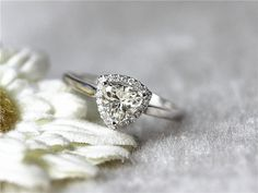 Trillion Cut Moissanite Gemstone Engagement Ring in by InOurStar