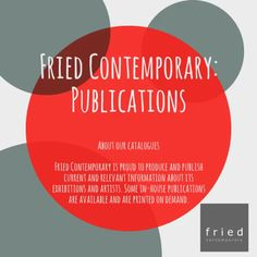 Fried Contemporary art gallery produces online publications featuring exhibitions, interviews and more! https://video.buffer.com/v/57ee73f2a36ae20c6af8abcc
