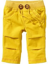 Pull-On Pop Color Khakis for Baby