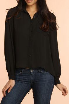 Cecico Siobhan Top In Black