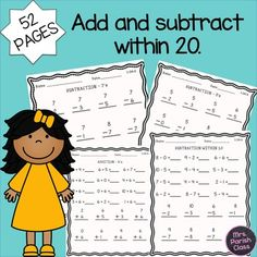 52 pages!!! COMMON CORE:1.OA.6 FIRST GRADE -... by Mrs Parish Class | Teachers Pay Teachers