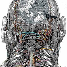 O japonês Waturu Yoshida é um designer gráfico e ilustrador que mistura ciência e surrealismo em suas ilustrações sobre a anatomia do corpo humano.