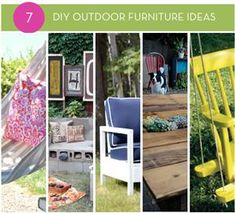 Roundup: DIY Outdoor Furniture Ideas (pallet swing beds decks)