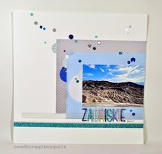 Layout Zabriskie Point Zabriskie Point, Polaroid Film, Scrapbooking, Layout, Page Layout, Scrapbook, Memory Books, Scrapbooks
