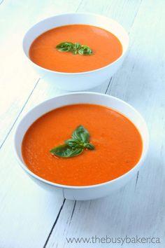 Garden Fresh Tomato Soup - The Busy Baker
