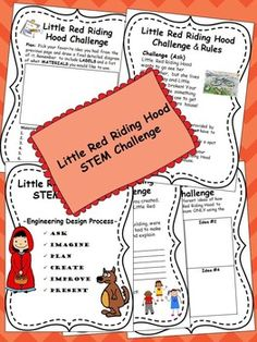 Little Red Riding Hood STEM Challenge by Above and Beyond the Curriculum September Preschool, Engineering Design Process, Traditional Tales, Jack And The Beanstalk, Stem For Kids, Story Books, Stem Challenges, Student Engagement, Stem Activities