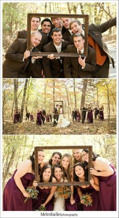 Wedding Party- I like the use of the frame