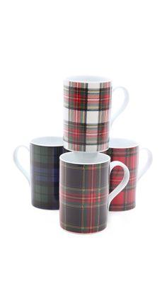 The perfect mugs for holiday Mug Cakes! The Portland Collection Tartan Mug Set by Pendleton found on Shopbop.com #mugcake #dessert #baking