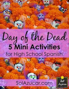 Day of the Dead Lessons for High School - 5 Mini Actives for High School Spanish - By Sol Azúcar