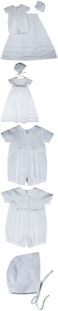 Baby Boy Convertible Linen Gown and Romper with Cross and Hat for Christening Baptism - M (6-12 Month, 13-17), Linen baby boy convertible gown to romper with cross and includes a matching hat. Delicate sheen trim on rounded split collar and matching cap edge. Bodice has a pattern of small vertical pleats finis..., #Apparel, #Outfits, $49.99