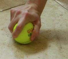 The secret to removing scuff marks? A tennis ball.