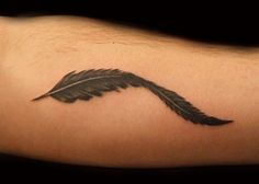 Black and Grey Feather Tattoo by PauloTattoos, via Flickr.