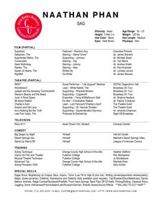 actor resume template microsoft word httpwwwresumecareerinfo - Resume Format For Actors