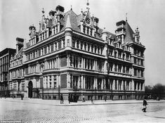 The Cornelius Vanderbilt Mansion at 57th Street and Fifth Avenue.  You hear the Vanderbilt name all over New York, because they certainly didn't skimp on their real-estate.  Indeed, this sprawling mansion was so large that it was the largest mansion EVER built in New York City.  It encompassed the entirety of 57th-58th Street overlooking Central park and had 130 rooms.   This grand palace fell in 1926 as developers demolished it and replaced it with commercial space.