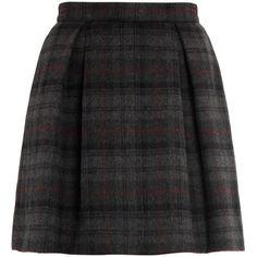 Thom Dolan Baby Belle plaid skirt (690 BRL) ❤ liked on Polyvore featuring skirts, bottoms, saias, faldas, high waist skirt, tartan skirt, high rise skirts, tartan a line skirt and high-waist skirt