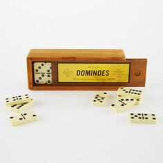 Our wood Dominoes are inspired by classic vintage sets. They're a great gift for the game-lover on your list.