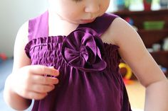 Craft Re-fashion Tutorial: T-shirt to Girls Tank Top with Rosette