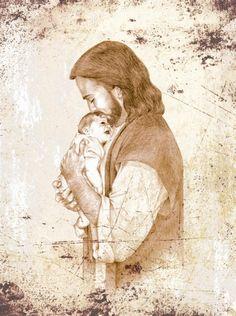 """Jean Keaton's """"Snuggling Infant""""  - Amazing artist Jean Keaton & Framed Legacy frames"""