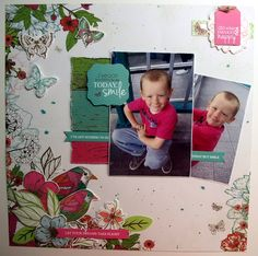 """Paper Play with Collette – Kaisercraft Official Blog """"Do what makes You Happy"""" layout 'Fly Free' collection [view 1]. - Wendy Schultz ~ Kids Layouts."""