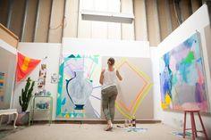 Miranda Skoczek — Artist, Apartment Studio, Elwood, Melbourne.