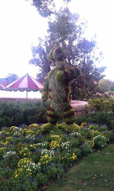 Epcot's Flower & Garden Show 2012 at Walt Disney World Resort. Tigger Topiary