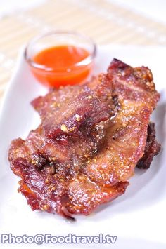 Thai Recipes, Pork Recipes, Asian Recipes, Yummy Thai, Asian Bowls, Shrimp Toast, The Last Meal, Thai Dishes, Fried Pork