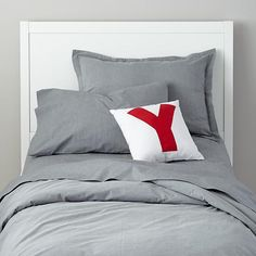 Grey Chambray Duvet Cover & Sheets, I'd layer the duvet cover between the quilt and sheet.