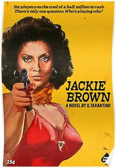 David Redon (aka Ads Libitum) managed to turn brilliantly Quentin Tarantino's movies through this series Pulp Books. He imagined book covers from the movi Quentin Tarantino, Tarantino Films, Pulp Fiction, Film Science Fiction, Crime Fiction, Jackie Brown, Great Films, Good Movies, Foxy Brown
