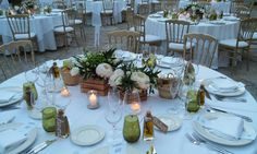 Tables ready at Son Berga, Mallorca Weddings in Mallorca