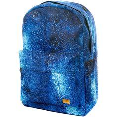 Spiral Star Bloom OG Backpack (Blue) ($34) ❤ liked on Polyvore featuring bags, backpacks, knapsack bags, rucksack bag, backpacks bags, blue bag and star backpack