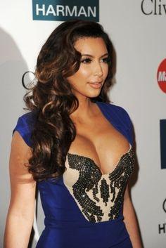 Kim Kardashian fancy Hairstyles