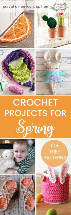 Crochet these easy simple patterns from my warm weather crochet projects for spring free pattern roundup!