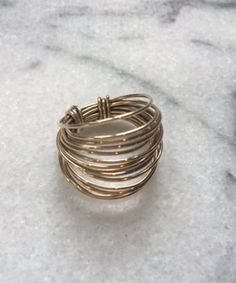 Sheer Addiction Jewelry - Wrap Brass Ring