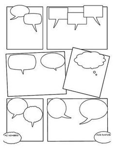 Could use for students to create comic strip to demonstrate … Blank Comic Strip. Could use for students to create comic strip to demonstrate understanding of interjections Teaching Writing, Writing Activities, Teaching Tools, Teaching English, Teaching Resources, Comic Strip Template, Comic Strips, English Language Arts, Writer Workshop