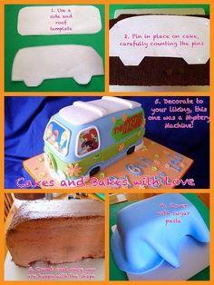 Cake mystery machine / van