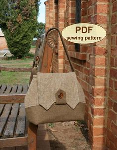 DESCRIPTION: Please note: If you wish to make a few bags from Charlie's Aunt sewing patterns or books to sell, please read the rules in the additional information section of our policies page. This PDF SEWING PATTERN inspired by the styles of the early 1940s includes templates and
