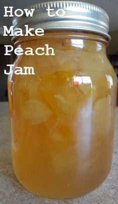 How to make homemade peach jam with either liquid pectin or powdered pectin.